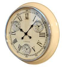 Small Picture Cream retro Vintage Timezone Kitchen Wall Clock UK