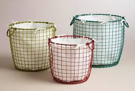 Image of: Nice Wire Laundry Basket