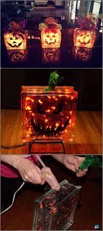 diy glass block pumpkins lights tutorial diy light projects instructions