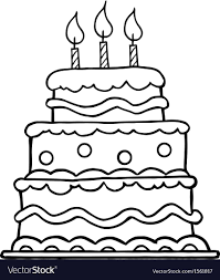 Birthday Cake Cartoon Vector 1561817 Designatprintingcom