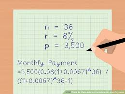 3 Ways To Calculate An Installment Loan Payment Wikihow