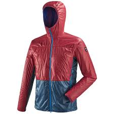 men s down jacket alpinism red trilogy edge alpha hoo