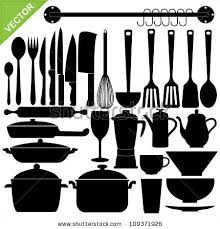 kitchen utensils silhouette vector free. Set Of Kitchen Tools Silhouettes Vector Utensils Silhouette Free T