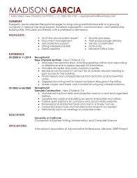 Medical Receptionist Resume Medical Receptionist Resume Sample No