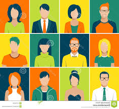 Face Design App Stock Illustration Flat Avatar App Icons Set User Face