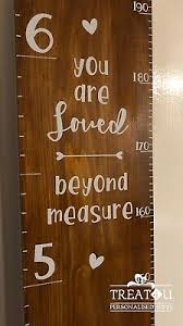 Wooden Height Chart Childrens Personalised Wooden Height Growth Chart Ruler