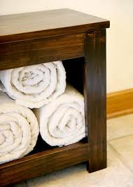 spa towel storage. A Good Place For Rolled Towels, To Sit! This Simple Spa Bench Is Compact Enough Fit In Most Baths, But Adds Both Storage And Seating. Towel T