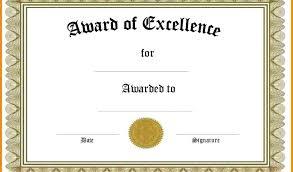 Certificate Paper Template Blank Award Certificates Download