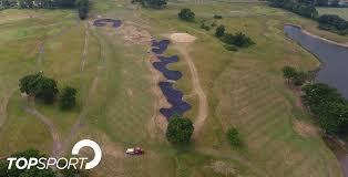 Topsport Bunker Lining At Chart Hills Golf Clubs Anaconda