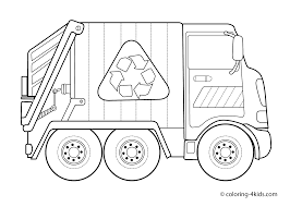 Clever Truck Coloring Pages For Preschoolers Garbage Kids