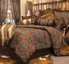 black forest decor turquoise mesa bed set king
