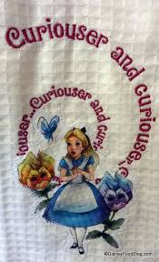 in wonderland towel alice kitchen themed tea party