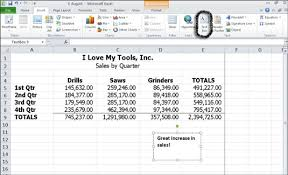 How To Annotate With Text Boxes In Excel 2010 Dummies