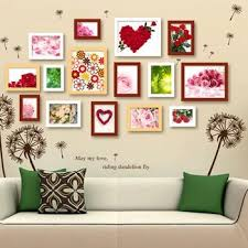 diy wall frame decor new pcs photo multi frame with pictures solid wood art wall