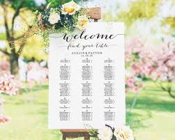 Alphabetical Seating Chart Seating Chart Wedding Seating