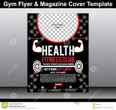 Gym Flyer & Magazine Cover Template Stock Vector - Illustration Of ...