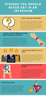Questions To Ask On Work Experience 5 Things You Should Never Say In An Interview Beachhead