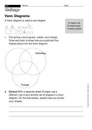Venn Diagram Math Worksheets Venn Diagrams Math Worksheet With Answers Printable Pdf