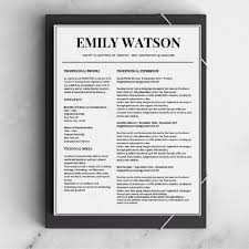 Resume Templates That Stand Out Best Emily Watson Resume Template Stand Out Shop 40 Black And