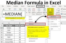 Median In Excel Formula Example How To Calculate Median