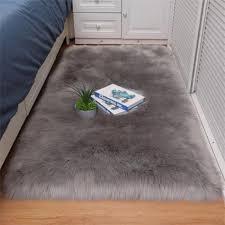 faux fur sheepskin rug carpet bedroom living room soft fluffy white area rugs floor mat home decor carpets tapis d19010902 oriental rugs
