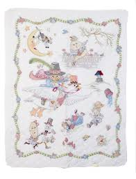 Amazon.com: Bucilla Stamped Cross Stitch Crib Cover Kit, 34 by 43 ... & Amazon.com: Bucilla Stamped Cross Stitch Crib Cover Kit, 34 by 43-Inch,  45359 Mary Engelbreit Mother Goose Adamdwight.com