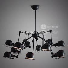 vintage american style 12 lights mechanical arm spider chandeliers industrial black ceilght fixtures chandelier shade glass chandelier shades from