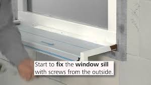 exterior window sill installation. how to install the stofentra profi window sill installation of thermal insulation you exterior