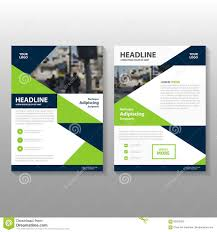 Green Brochure Template Abstract Triangle Green Blue Polygon Leaflet Brochure Flyer Template