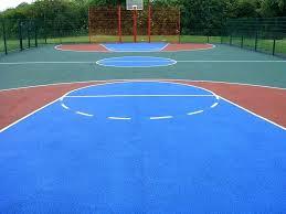 concrete sport court basketball paint painting painting an outdoor concrete basketball court paint acrylic