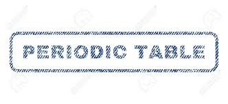 Periodic Table Text Textile Seal Stamp Watermark. Blue Jeans ...
