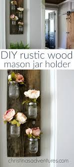 rustic vertical vase mason jar wall art
