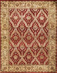 rugsville trellis garden red gold hand knotted persian wool rug 270 x 370