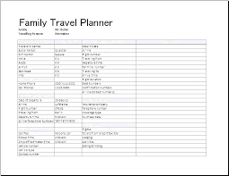 Vacation Calendar Templates Vacation Itinerary Template Excel Family Calendar Picture