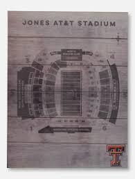 Texas Tech Jones Stadium Seating Chart Texas Tech Red Raiders Wall Art