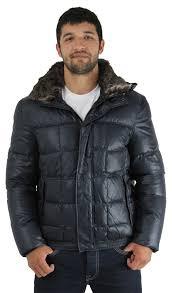 andrew marc dodge men s down puffer jacket rabbit fur black size s