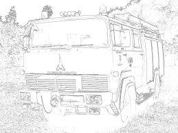 Tűzoltóautós Színező