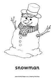 Small Picture Snowman Colouring Pages