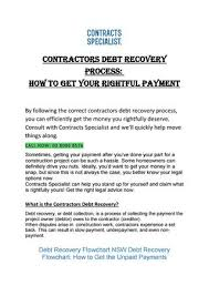 Contracts Specialist Contractor Debt Recovery Process By