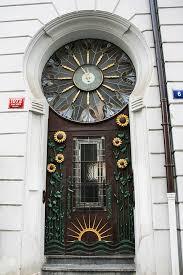 prague old town front door art nouveau decorative