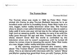 truman show essay the truman show essay