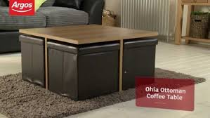 Glass Ohio Ottoman Chocolate And Oak Effect Coffee Table Argos Review  Maxresdefault Coffee Table With Seating