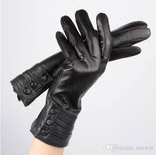 2019 2016 women genuine leather gloves 100 soft sheepskin touch screen gloves for iphones long wrist warm fur inside winter gloves black from umwin