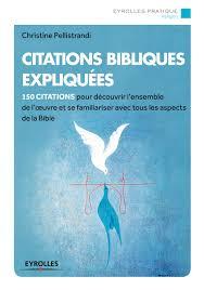 Citations Bibliques Expliquées Cpellistrandi Librairie Eyrolles