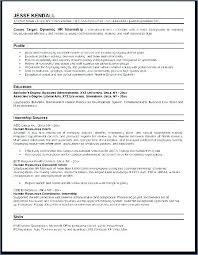 Internship Resume Examples Hr Manager Resume Examples Internship