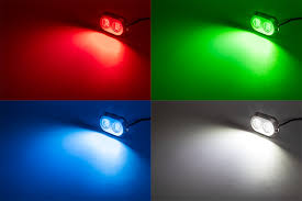 led underwater boat lights and dock lights double lens 120w shown on in red green blue and white