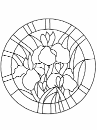 Stained Glass Coloring Pages Coloringpagesabccom Faux Stained