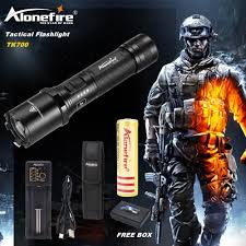 Police Tactical Light Alonefire Tk700 Cree Xm L2 Led Flashlight Usb Rechargeable