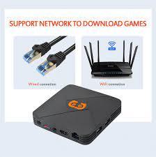 Máy chơi game điện tử 4 nút hdmi tích hợp Tivi Box hỗ trợ tải game lưu game  xem TV miễn phí với 5600 games tay cầm joystick Hỗ trợ phân giải