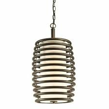 details about kichler 42878oz brinley mini pendant 1 light olde bronze